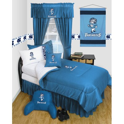 NCAA North Carolina Bed Skirt Size: Queen