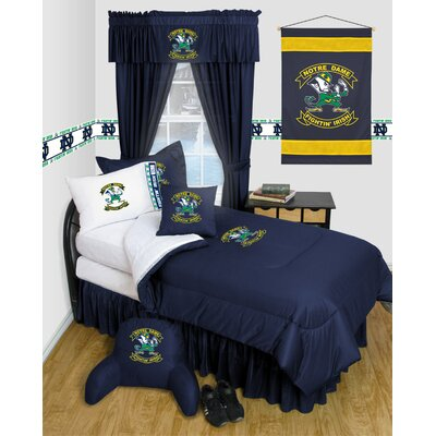 NCAA Notre Dame Bed Skirt Size: Twin