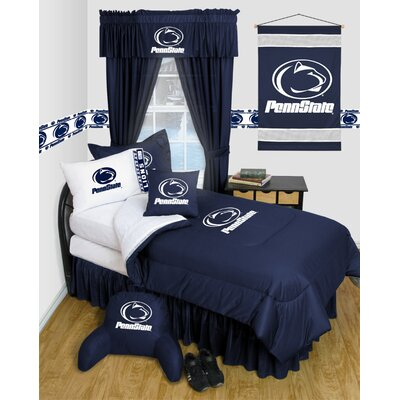 NCAA Penn State Bed Skirt Size: Queen