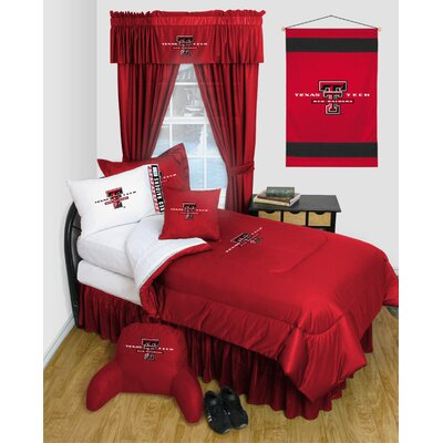 NCAA Texas Tech Bed Skirt Size: Queen