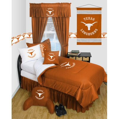 NCAA Texas Bed Skirt Size: Queen