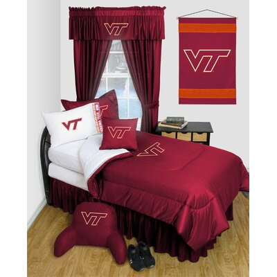 NCAA Virginia Tech Bed Skirt Size: Full