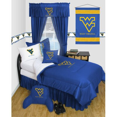 NCAA West Virginia Bed Skirt Size: Full