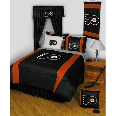 NHL Bed Skirt Size: Full, NHL Team: Philadelphia Flyers