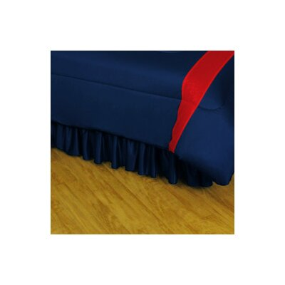 NHL Columbus Blue Jackets Polyester Jersey Bed Skirt Size: Queen