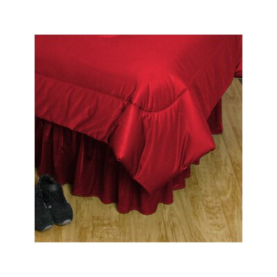 NCAA Nebraska Bed Skirt Size: Full