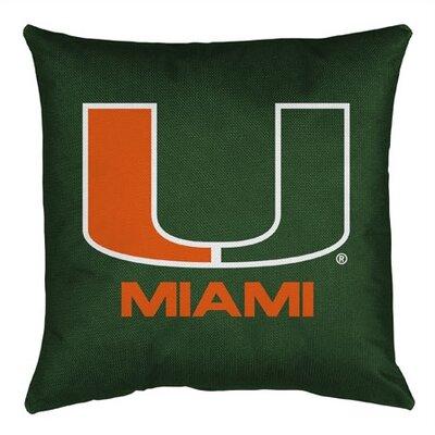 NCAA Miami Throw Pillow