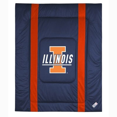 NCAA University of Illinois Sidelines Comforter Size: Full/Queen