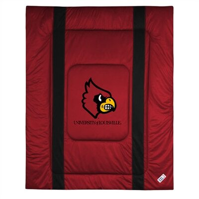 NCAA University of Louisville Sidelines Comforter Size: Full/Queen