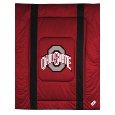 NCAA Ohio State University Sidelines Comforter Size: Full/Queen