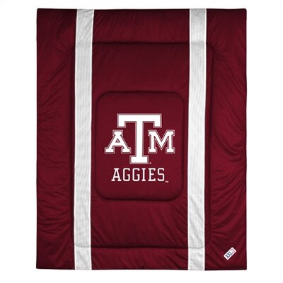 NCAA Texas A&M University Sidelines Comforter Size: Twin