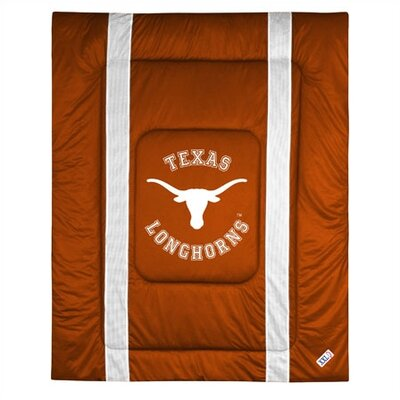 NCAA University of Texas Sidelines Comforter Size: Full/Queen
