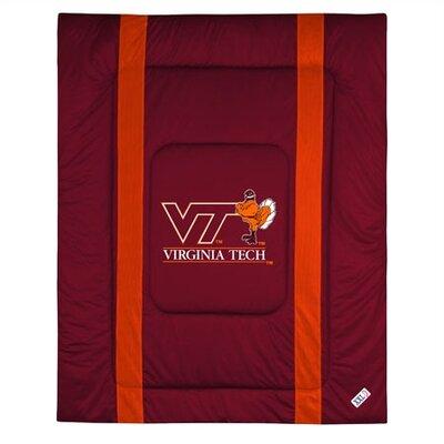 NCAA Virginia Tech Sidelines Comforter Size: Full/Queen