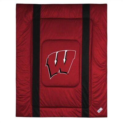 NCAA University of Wisconsin Sidelines Comforter Size: Full/Queen