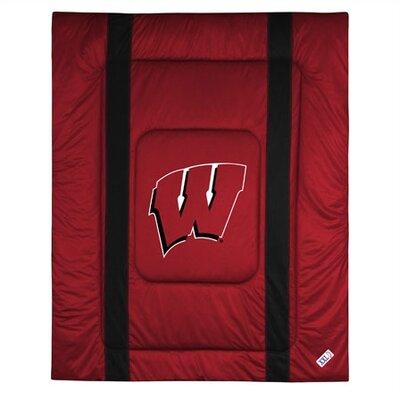 NCAA University of Wisconsin Sidelines Comforter Size: Twin