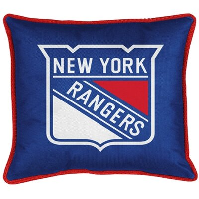NHL Sidelines Throw Pillow NHL Team: New York Rangers
