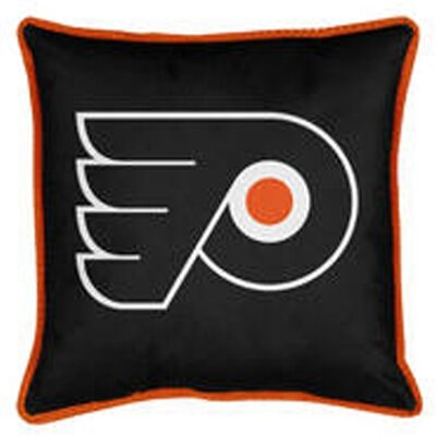 NHL Sidelines Throw Pillow NHL Team: Philadelphia Flyers