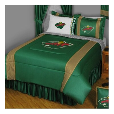 NHL Minnesota Wild Sidelines Comforter Size: Full / Queen