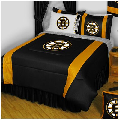 NHL Boston Bruins Sidelines Comforter Size: Full / Queen