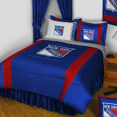 NHL New York Rangers Sidelines Comforter Size: Twin