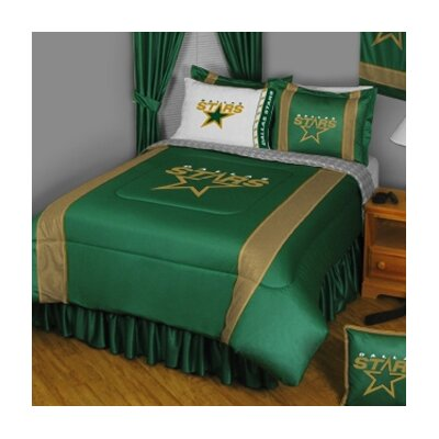 NHL Dallas Stars Sidelines Comforter Size: Full / Queen