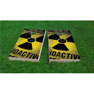Radioactive / Nuclear Waste Light Weight Cornhole Game Set Bag Fill: All Weather Plastic Resin