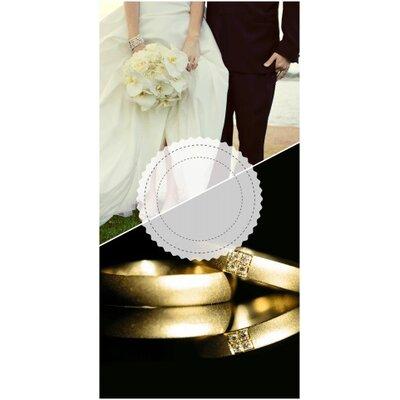 Wedding Rings Cornhole Game Set Bag Fill: Whole Kernel Corn