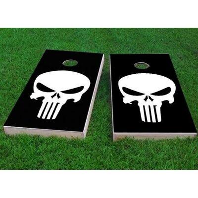 Punisher Skull Cornhole Game Bag Fill: All Weather Plastic Resin, Size: 48