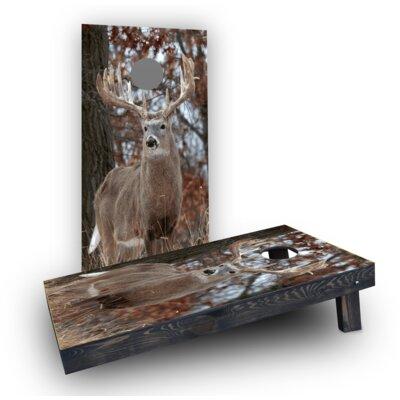 White Tail Deer Buck Cornhole Boards CCB122-2x4-C-RH