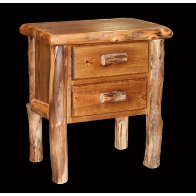 Aspen 2 Drawer Nightstand