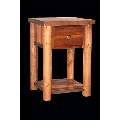 Barnwood 1 Drawer Nightstand