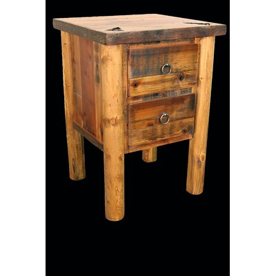 Barnwood 2 Drawer Nightstand