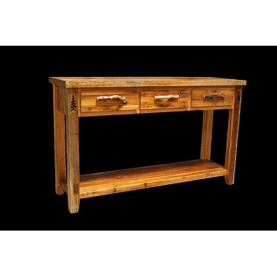 Barnwood 3 Drawer Console Table