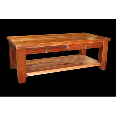 Barnwood Coffee Table with Shelf