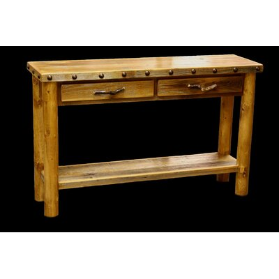 Barnwood 2 Drawer Console Table