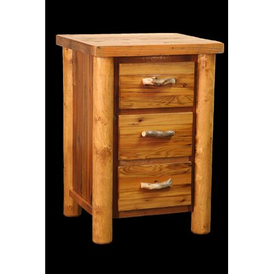 Barnwood 3 Drawer Nightstand