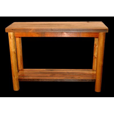 Barnwood Console Table with Round Legs