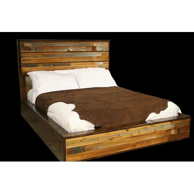 Urban Rustic Platform Bed Size: California King