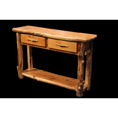 Aspen 2 Drawer Console Table with Shelf