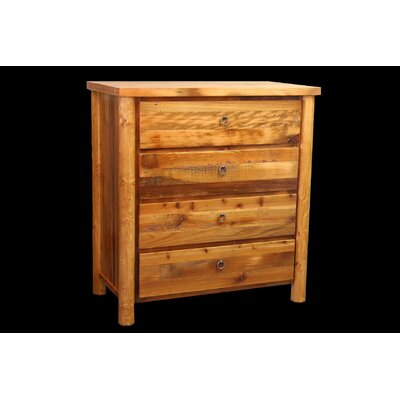 Barnwood 4 Drawer Chest with Round Legs