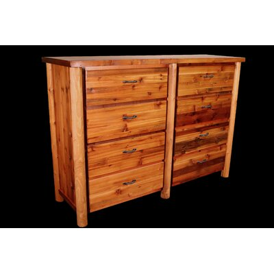 Barnwood 8 Drawer Dresser with Round Legs