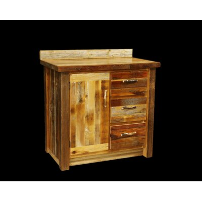 Barnwood 36 Bathroom Vanity Base