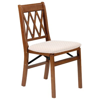 stakmore arts and crafts wood folding chair with