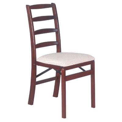 Shaker Upholstered Dining Chair (Set of 2) Color: Cherry