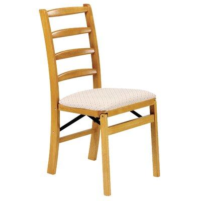 Shaker Side Chair (Set of 2) Upholstery: Fabric - Blush, Finish: Oak