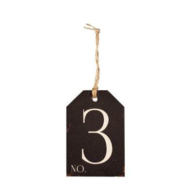 Wood Number Tag Number: 3