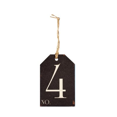 Wood Number Tag Number: 4