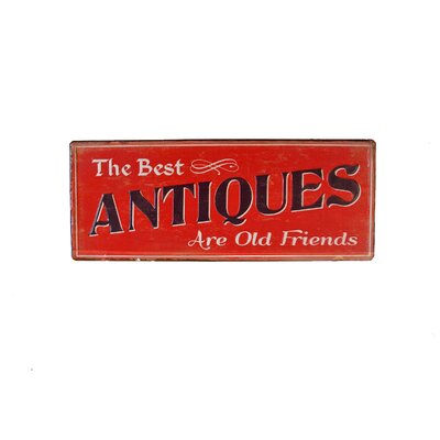 Metal Sign 'Antiques' Wall Decor