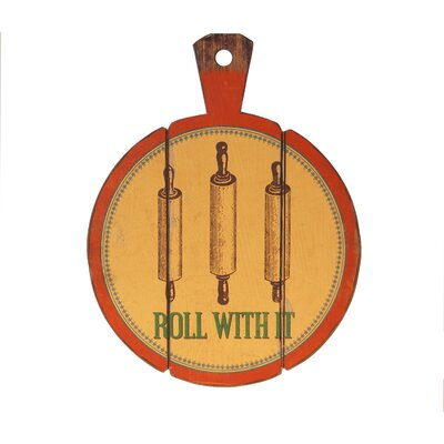 Wood Sign 'Roll With It' Wall Decor
