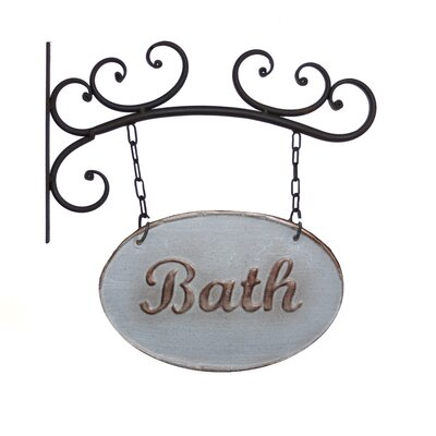 Metal Bath Sign Wall Decor